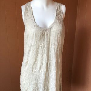Free People long high/low tank top